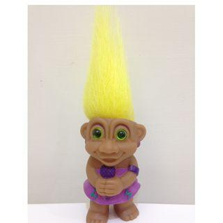 幸運小子(我是歌手 - 黃髮)醜娃、巨魔娃娃、醜妞、Troll Doll、魔髪精靈、魔法精靈、唱歌、拉丁、那卡西