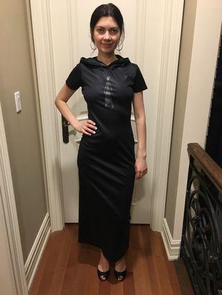 Long black dress with hood size small