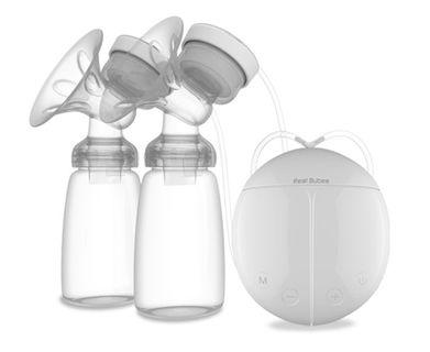 🚚 Brand new Real Bubee Breastpump Double USB Electric Breast Pump with Two Milk Bottle