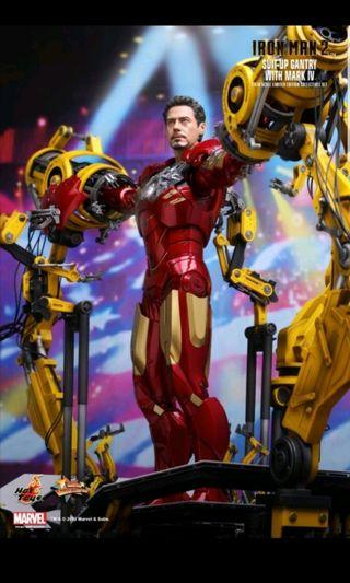 hottoys iron man mark iv with suit up 第一版黃臂