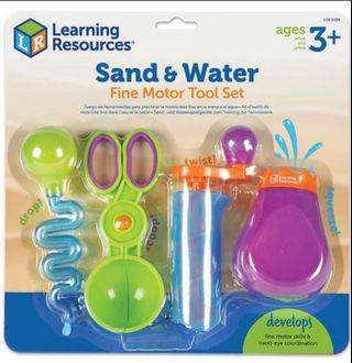 Brand New Learning Resources Sand and Water Fine Motor Tool Set