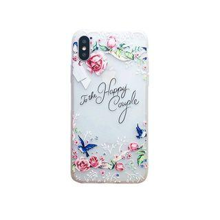 Floral Matte TPU Case for iPhone X  XS MAX XR 8/7/6S Plus