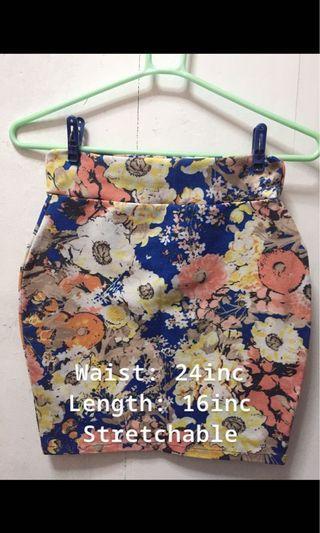 Floral Bandage Skirt