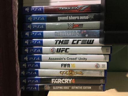 Ps4 Games Full Set Used With 2xDS4