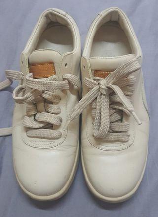 LV lamb skin walking shoes.