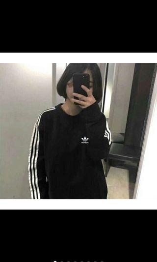 Adidas 經典Logo 長袖衛衣
