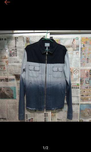 🚚 9.5成新 台灣品牌 OVKLAB OVK OVERKILL 拼接 拼色 撞色 牛仔外套 XL