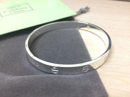 韓版簡約銀手鐲手環