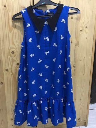 Topshop Blue Dress Size M #mauTHR