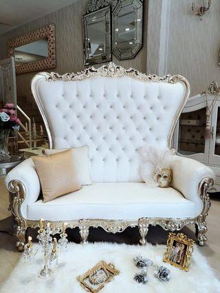 Crystal Embellished Throne Sofa