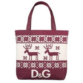 🦌🦌日本雜誌附錄袋D&G雪花❄❄鹿仔🦌🦌厚牛仔布單孭袋👜