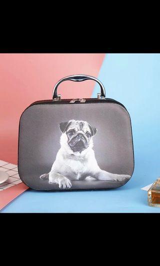 巴哥 狗狗 化妝箱 手提箱 彩妝 飾品 寵物 法鬥 pug