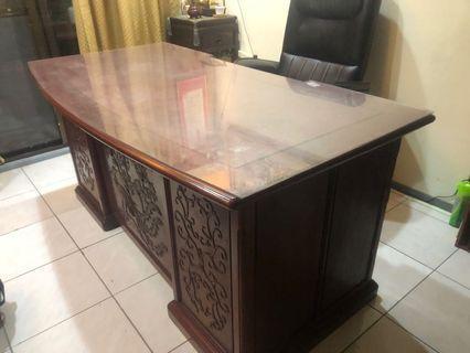 🚚 實紅木辦公桌(非紅木貼皮)
