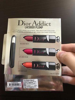 Dior癮誘超模漆光俏唇露三色試用卡