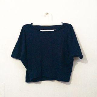 Crop Top / Crop Tee Navy Blue