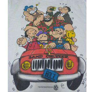 Kaos Vintage 90s The Popeye Family