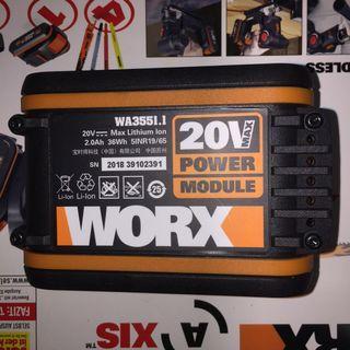 95%New Worx 20v 2000mah Battery 小腳板 鋰電儲電池 威克士電池