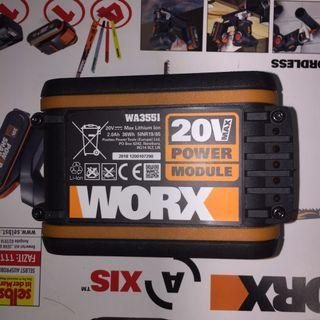 100%New Worx 20v 2000mah Battery 小腳板 鋰電儲電池 威克士電池