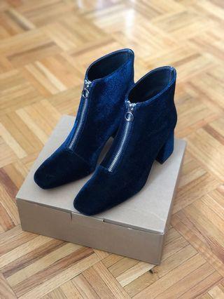 ZARA Velvet Ankle Boots