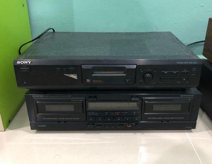 Sony Minidisc MD Onkyo Double Cassette Deck