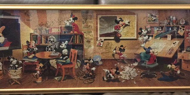 成品連原裝掛牆架 - 歷代米奇Puzzle 950塊