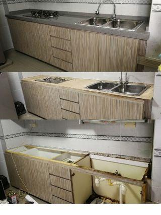 Replace new table top, Quartz, granites, solid surface
