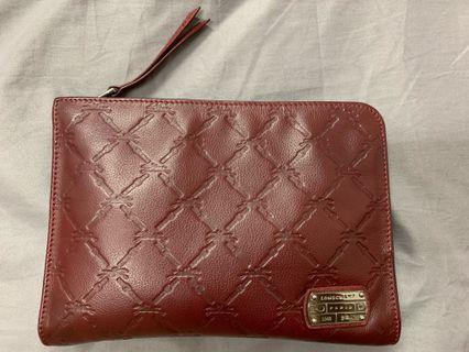 Authentic Longchamp Clutch Purse in Maroon [preloved]