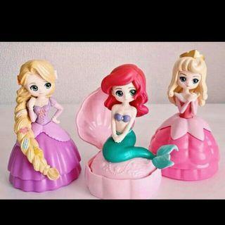 公主扭蛋 2 長髮公主,睡公主,美人魚 1set售