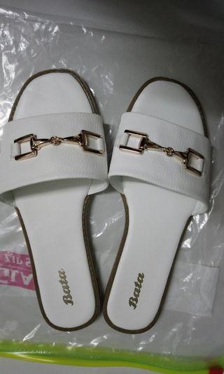 Bata white flat sandal