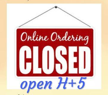 EID SESSION, Closed Order temporary