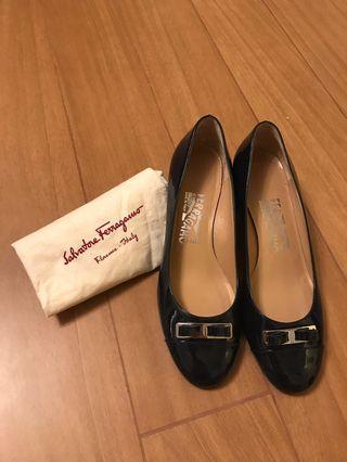 Salvatore Ferragamo Shoes Black Patent
