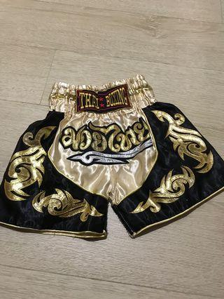 Gold and black Muay Thai Short
