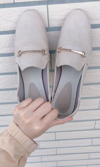 🚚 韓版杏色皮鞋