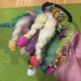 Saibaba民族風 羊毛氈髮飾