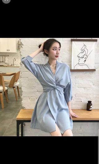 🚚 Preorder elegant women dress - blue/black