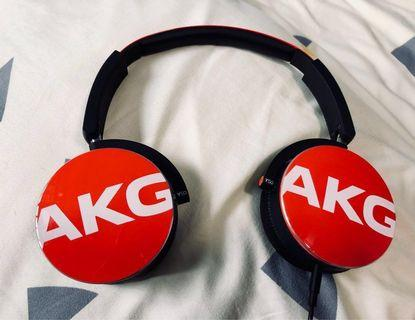 Authentic AKG Y50 headphones with pouch