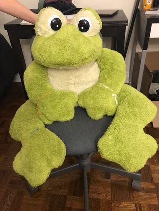 Green Stuffed Frog