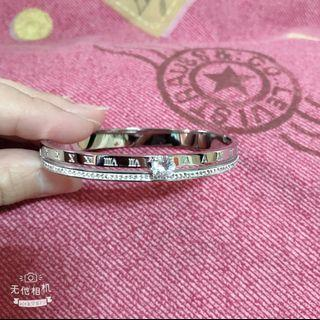 🚚 鈦鋼水鑽微鑲手環 可戴著洗澡