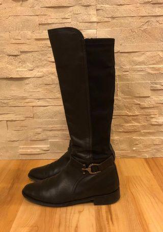 Anne Klein Women's 'Carlene' Riding Boots Black Genuine Leather Size 7.5 - 8