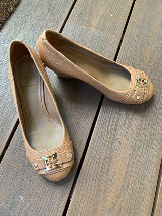 💯Authentic Tory Burch Brown Wedges Shoes