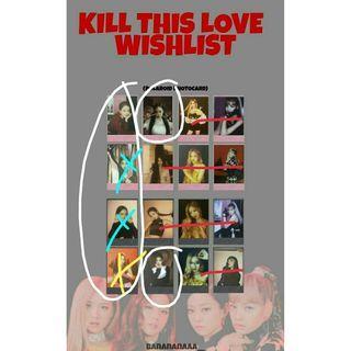 WTB Blackpink Jisoo KILL THIS LOVE pink photocard & poster pink ver.