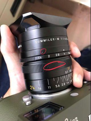 Leica Summilux 24mm f1.4 w/ Series 7 UV filter