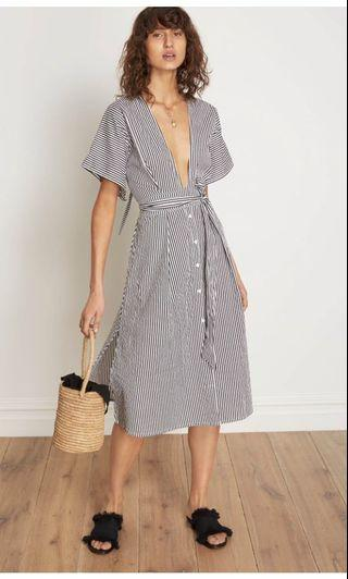 Faithfull the Label midi stripe dress