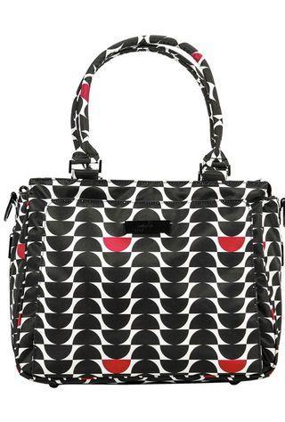 Ju-Ju-Be Onyx Collection Be Classy Structured Handbag Diaper Bag, Black Widow