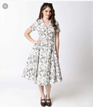 🚚 BNWT Collectif Vintage Caterina Autumn Leaves Swing Shirt Dress