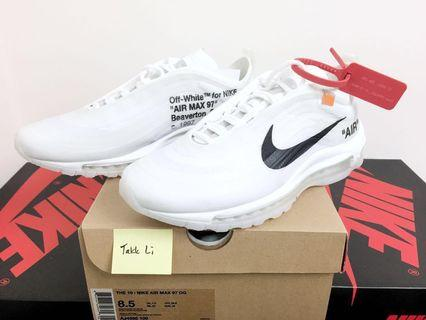 Off-White x Nike The Ten: Air Max 97 US 8.5