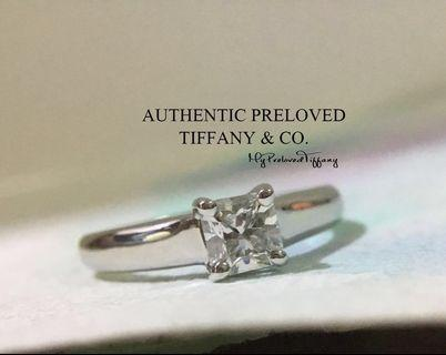 3d77231a9 Mint Tiffany & Co Lucida Diamond 0.39ct IF 3EX E Platinum Ring Excellent  PT950