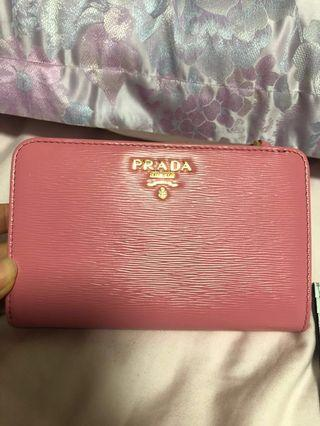 Brand new Prada small wallet in baby pink