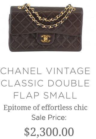 Chanel deep brown vintage