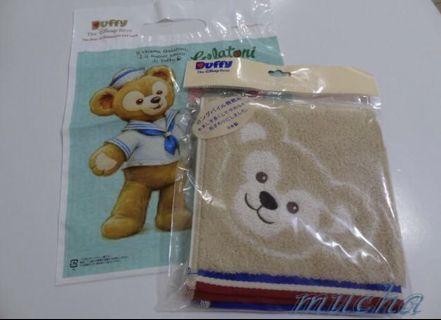 🚚 慕夏名品分享站-全新真品日本迪士尼樂園Duffy ShellieMay達菲熊/雪莉梅/雪莉玫毛巾/手帕-日本製(正的哦)
